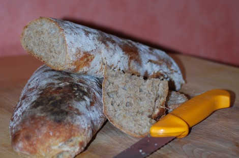 Rye and Spelt Ciabatta