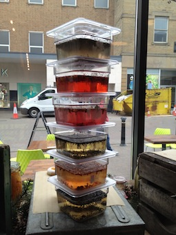 A tower of tea ready for infusion overnight.