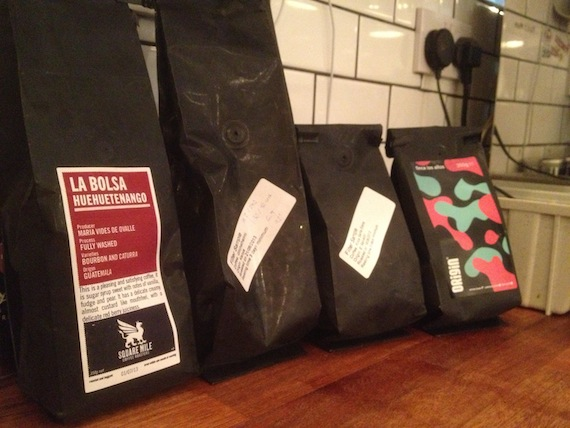 4 bags of single origin coffee beans