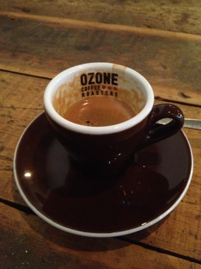 Ozone branded coffee cup