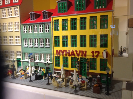 Lego version of Nyhavn in Copenhagen