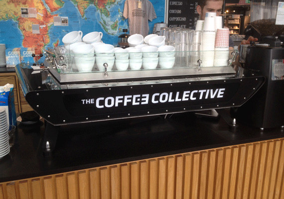 Kees Van Der Western 'Spirit' at speciality coffee shop 'The Coffee Collective'