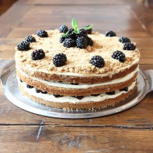 Blackberry crumble cake, scandi baking at Baltzersen's Harrogate