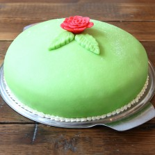 Classic Swedish Princesstarta available most Saturdays and to order from Baltzersen's in Harrogate..