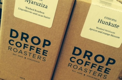 Baltzersen's new guest coffee from Drop Coffee in Stockholm Sweden.