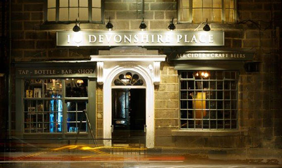 photo of the outside of 10 Devonshire place an independent bar in harrogate