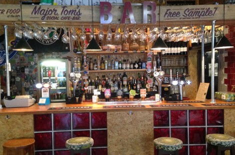 Photo of the bar at our/bar Major Tom's Social in Harrogate