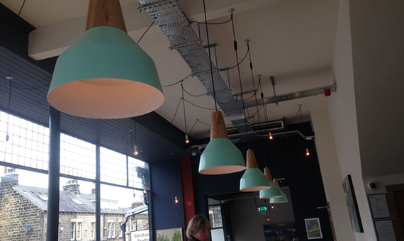 Photo of the Scandinavian inspired lighting at new pub/bar in Harrogate North Bar