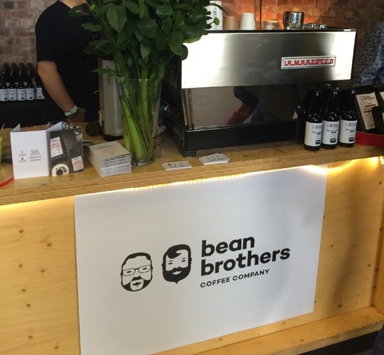 Bean Brothers stall at Northern Coffee Party: Cup North