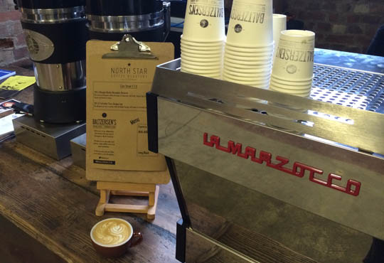 Baltzersen's on the La Marzocco stand at Northern Coffee Party: Cup North