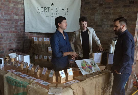 Ellis and Krag from North Star Coffee Roasters at Northern Coffee Party: Cup North