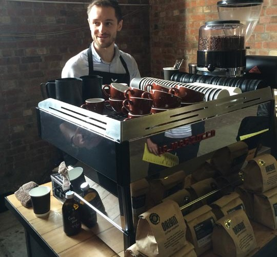Dan Fellowes from Origin Coffee in Cornwall brewed the best coffee we tasted at Northern Coffee Party: Cup North