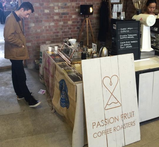 Passion Fruit Coffee Roasters, a local business extending there reach at Northern Coffee Party: Cup North