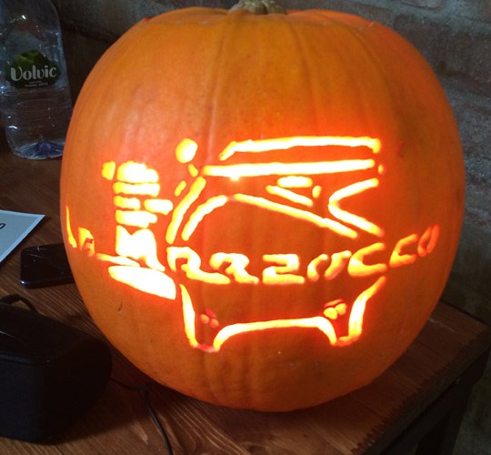 This La Marzocco Strada carved pumpkin must have been the most photographed thing at Northern Coffee Party: Cup North
