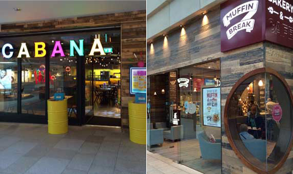 Chains/Franchises Cabana and Muffin Break at Leeds Trinity