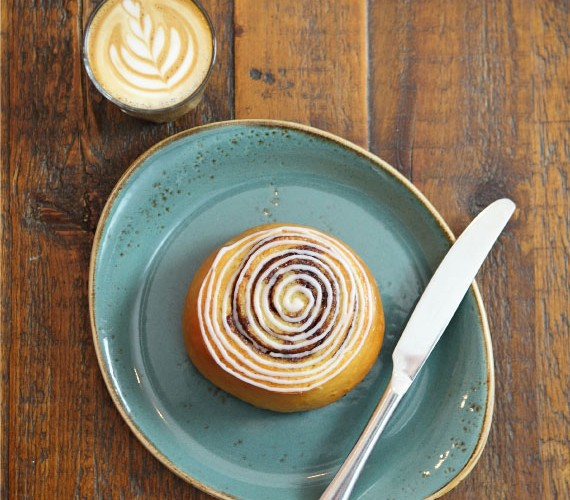 Freshly made everyday, Baltzersen's cinnamon buns are the epitome of a fika treat.