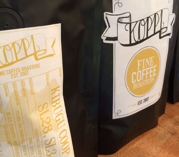 Koppi coffee from Sweden in Baltzersen's cafe, for the perfect fika moment.