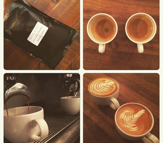 Guest espresso and house espresso as a flat white.