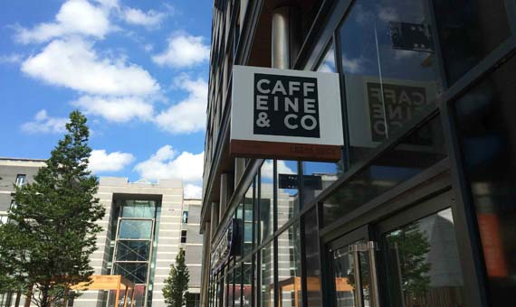 Manchester mini-chain Caffeine&Co newly opened at Leeds Dock
