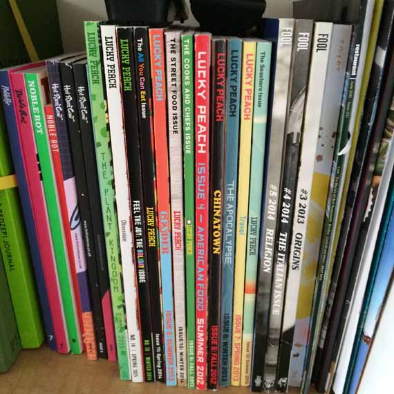 Hot Rum Cow, Fool, Lucky Peach and Noble Rot amongst other magazines