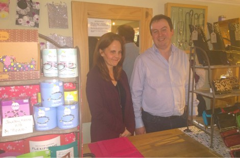 Owners Neil and Nathalie of Independent Gift Shop Shine in Harrogate.