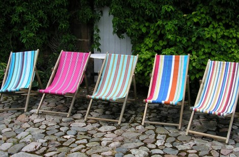 Deckchairs available to hire fro Sophie Likes in Harrogate - an Independent Gift Shop