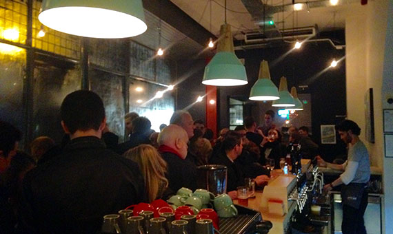 Photo of the very busy bar at North Bar Harrogate on the opening night