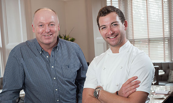 Photo of property developer Ian Humphreys and chef Michael Carr of Restaurant 92 in Harrogate