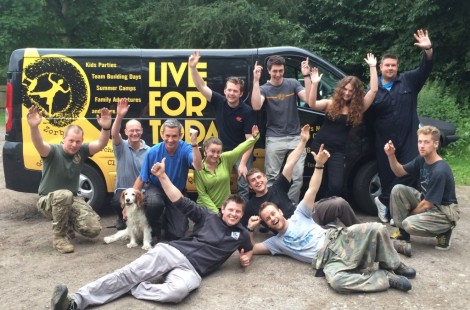 The team at Live For Today offering outdoor activities in the Harrogate area