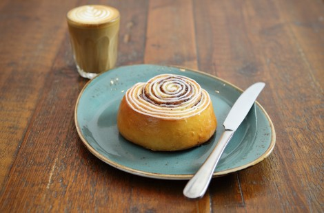 What is hygge? For us, it's a soothing hot drink and a sweet treat, like our cinnamon buns