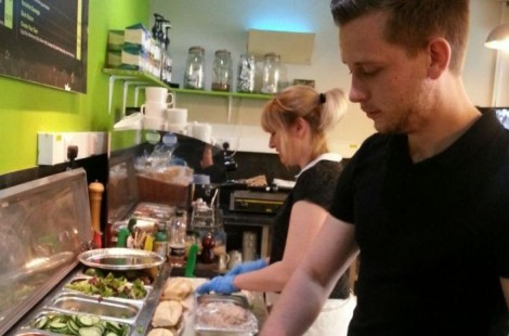 Making the best sandwiches in Harrogate at bib and Tucker