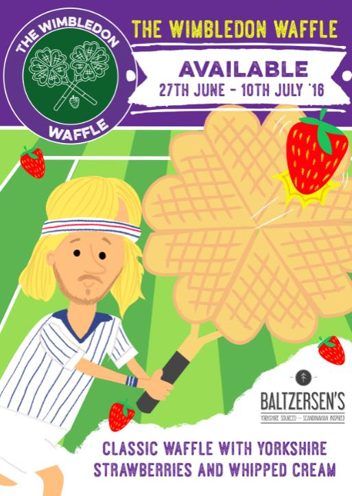 Celebrate Wimbledon in Harrogate with our special edition Wimbledon waffles