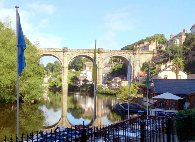Knaresborough Castle has views to the beautiful viaduct if you're looking for free things to do in Harrogate