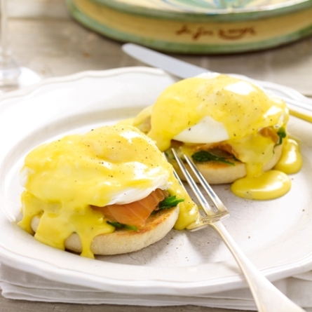 Eggs florentine is a popular option for brunch in Harrogate at Weetons