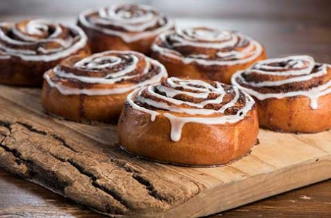 Photo of cinnamon buns for Baltzersen's Scandinavian cafe Harrogate