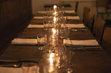 Photo os tables/candles/cutlery for Baltzersen's Harrogate