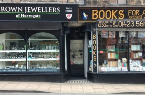 Crown Jewellers and Books for All are adjacent to each other on Commercial Street