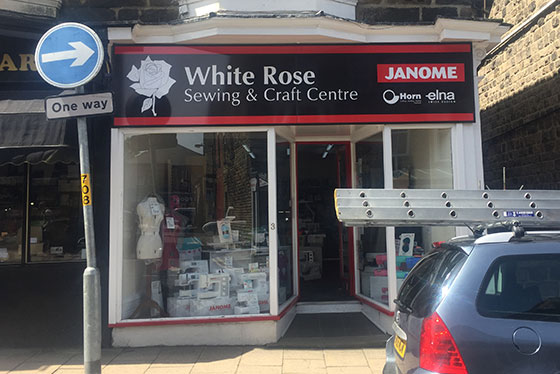 Photo of white rose sewing for Blatzersen's cafe blog in Harrogate