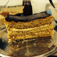 Finished product, the Honey Cake from the Baltzersen's recipe book
