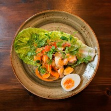 A salad of pickled seafood at Baltzersen's cafe in Harrogate