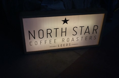 North Star with borrowed light box at Northern Coffee Party: Cup North