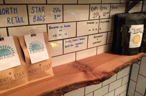 Guest coffee from North Star Roast and Koppi coffee.