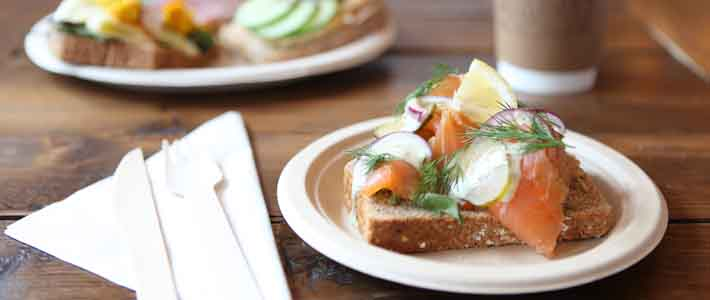 Open sandwiches are something different for a lunch meeting