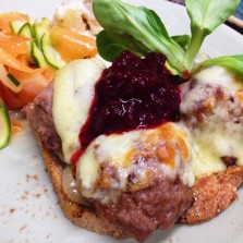 Photo of meatball sandwich for Baltzesren's scandinavian cafe recipe page on their website based in harrogate