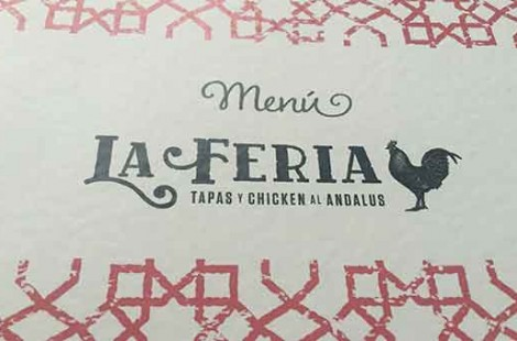 Photo of La feria restaurant in Harrogate menu taken for Baltzersen's blog a scandinavian cafe in harrogate