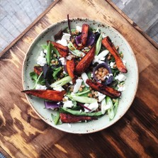 Photo of Sweet potato, rye grain and feat salad at Baltzersen's Scandinavian cafe in Harrogate for their recipe page on their website