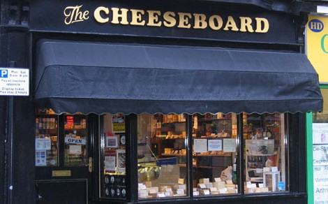 The Cheeseboard on Commercial Street, Harrogate.
